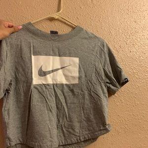 Nike grey crop top